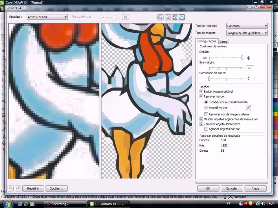 Video Aula Corel Draw X4 Como Converter Uma Imagem Em Vetor