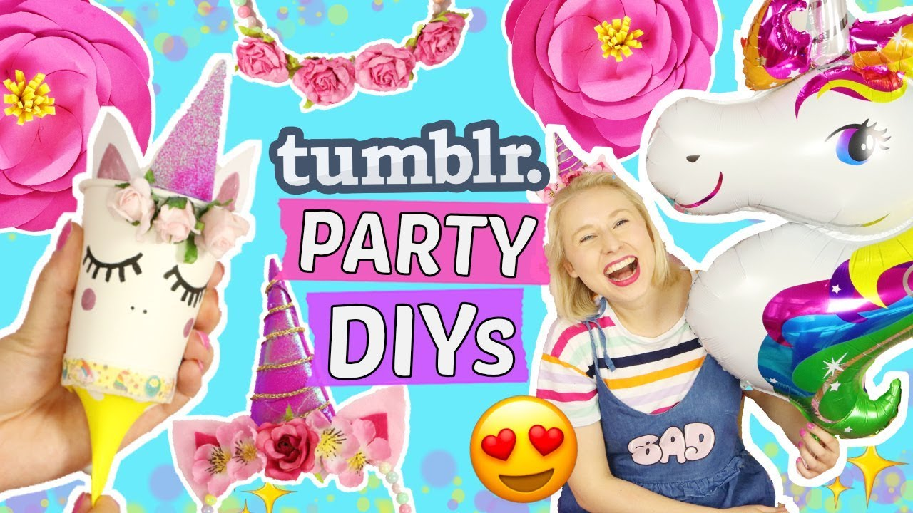 5 Coole Tumblr Geburtstags Party Diys Einhorn Pinterest Deko