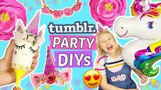 5 coole TUMBLR GEBURTSTAGS-PARTY DIYs 🎉Einhorn & Pinterest Deko Ideen! 🦄