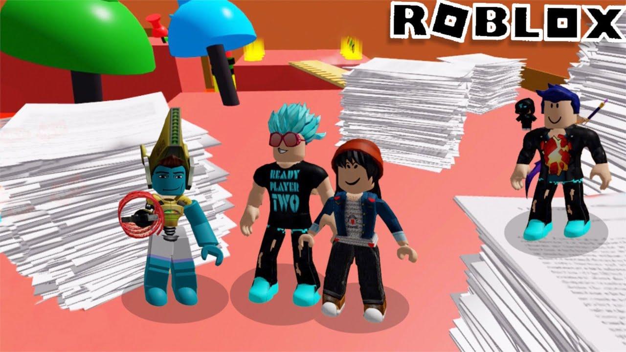 Escapamos del GIMNASIO y los EXAMENES!!  Los Polo en ROBLOX