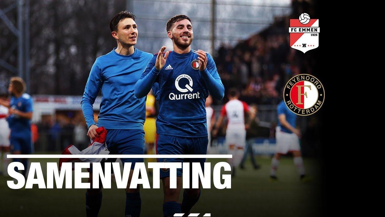 Samenvatting Fc Emmen Feyenoord 2018 2019 Youtube