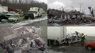 Сильная буря движется на восток США