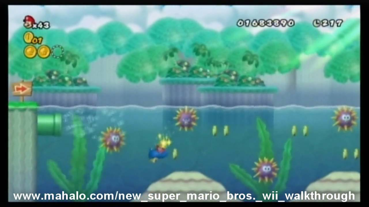 New Super Mario Bros Wii Walkthrough World 4 1 Youtube