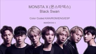 Monsta X  몬스타엑스  - Black Swan  Color Coded Kan/rom/eng/esp Lyrics