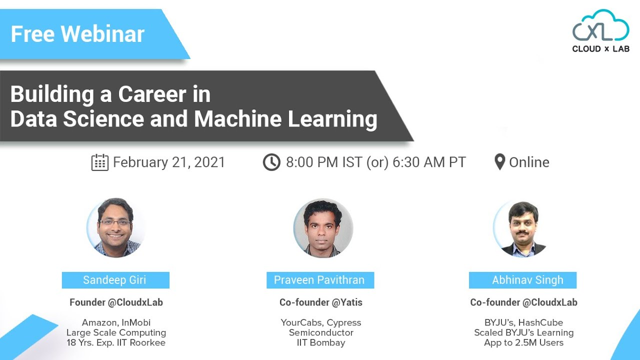Building a Career in Data Science and Machine Learning