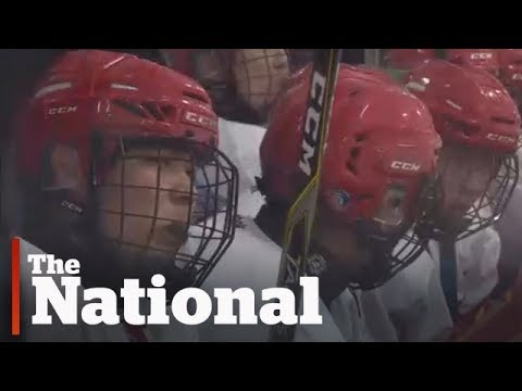 Chinese hockey players training in Canada for Olympics