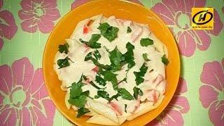 Полезные макароны с тыквенным соусом, диетический рецепт