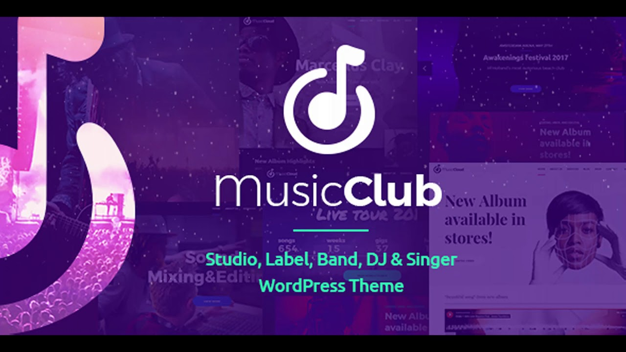 Music Club - Music, Band, Studio & DJ | Themeforest Website ...