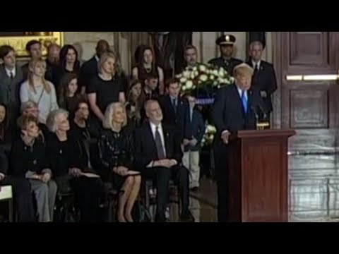 President Trump memorializes Billy Graham
