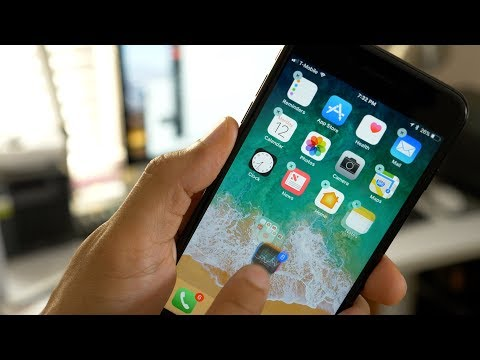 Move multiple apps on iPhone using iOS 11 drag and drop