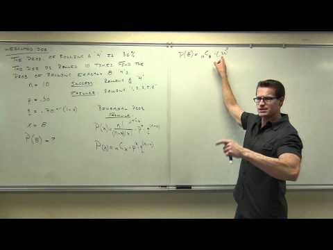 Statistics Lecture 5.3: A Study of Binomial Probability Distributions