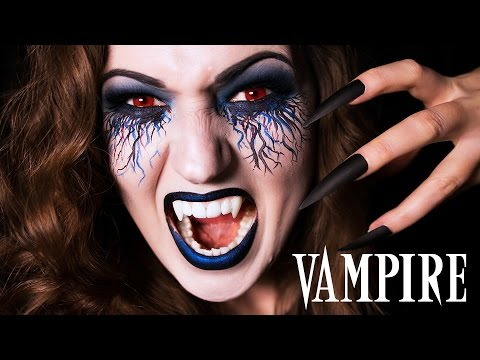 Vampire Halloween Makeup | Julia Graf - YouTube