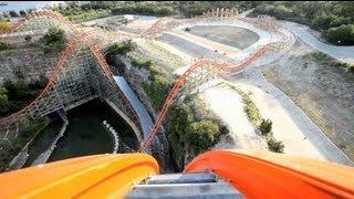 iron rattler real pov six flags fiesta texas roller coaster rider cam off ride