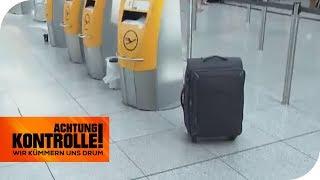 Herrenloser Koffer am Flughafen: Gibt es Bombenalarm? | Achtung Kontrolle | kabel eins