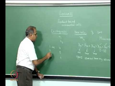 Mod-01 Lec-22 Static and dynamic Operator allocation, Multiple products and incremental cells