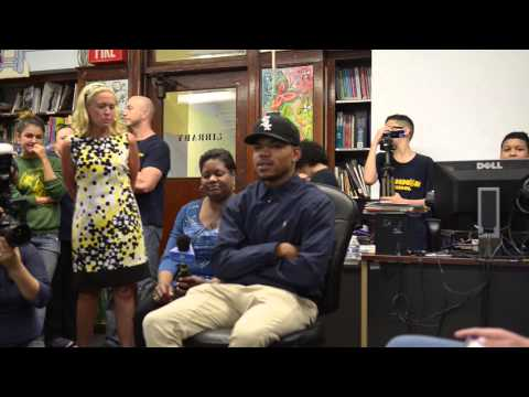 Chance the Rapper at Scammon Elementary School