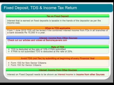 how to avoid tds on recurring deposit