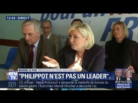 """""""Florian Philippot n'est pas un leader, son mouvement n'existera pas"""", tacle Marine Le Pen"""