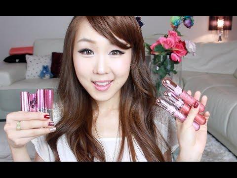 KOREAN MAKEUP Peripera Wonder Lipstick & Glosses Swatches