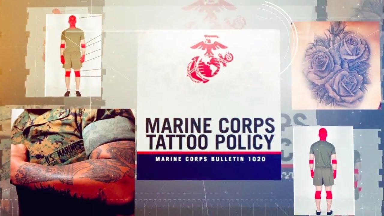 Updated marine corps tattoo policy summarized youtube for Marine corps tattoo regulations