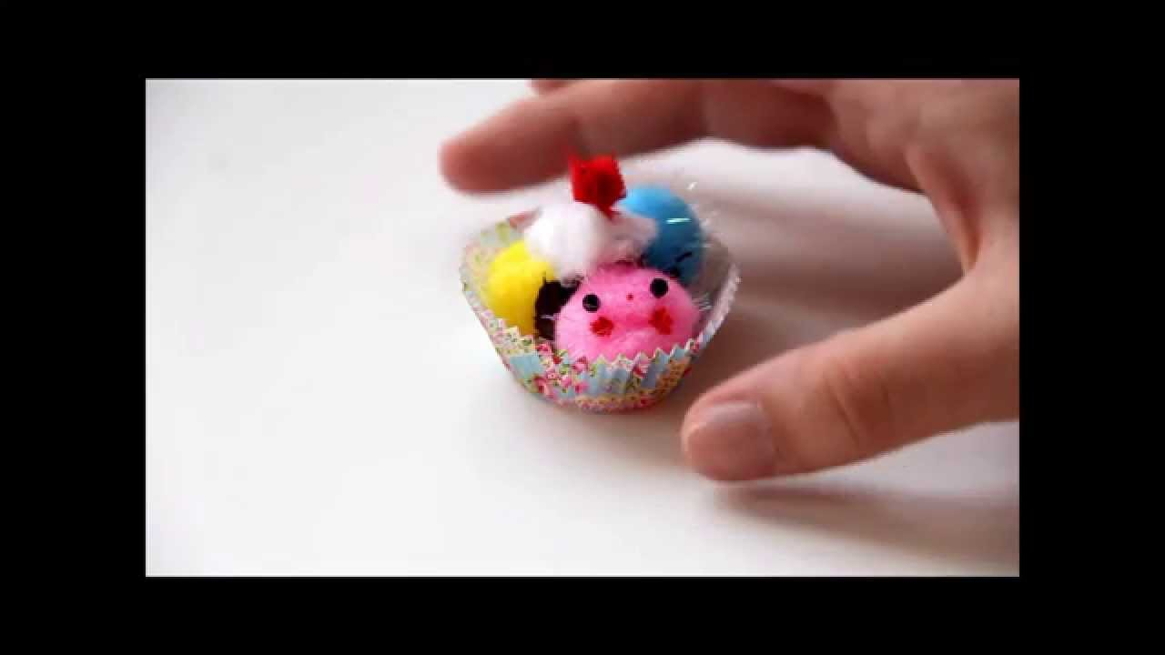 How to make pom pom ice cream cute crafts with lady for Cute pom pom crafts