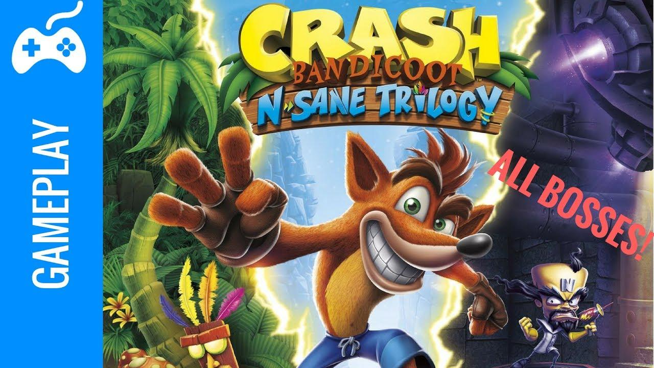 Crash Bandicoot N. Sane Trilogy All Bosses