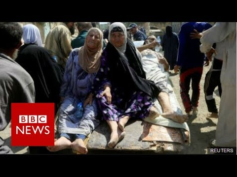 Mosul battle: 'Dozens of civilians killed' fleeing IS-held district - BBC News