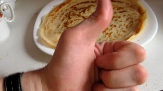 Как Приготовить Тонкие Блины. Видео Рецепт(Как Приготовить Тонкие Блины Тонкие Блины На Молоке., 2015-02-28T16:33:54.000Z)