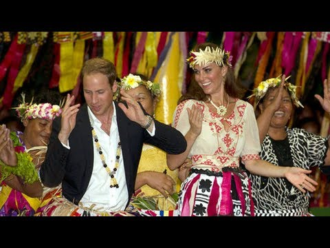 Kate Middleton and Prince William Dance in Tuvalu — Who Has Better Moves?