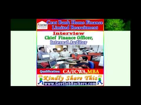 Cent Bank Home Finance Limited Recruitment  Application Form 2015-2016