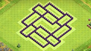 Clash of Clans - Town Hall 7 Defense BEST COC TH7 Trophy Base Layout Defense Strategy