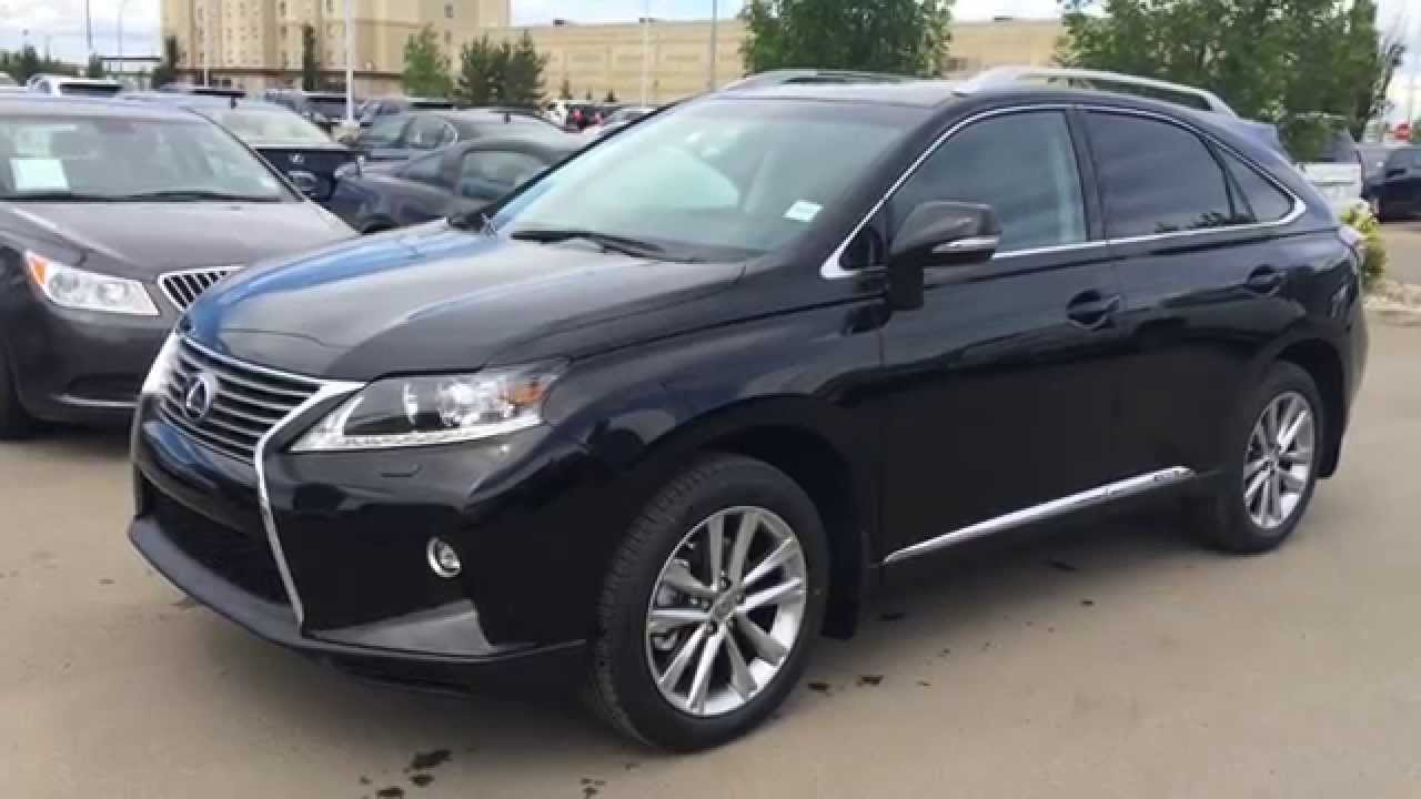 2015 Lexus RX 450h Hybrid AWD SportDesign Edition Review - Black on Black - Lexus of Edmonton ...
