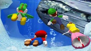 Mario Party 4 Minigames - Mario Vs Luigi Vs Peach Vs Yoshi (Master CPU)