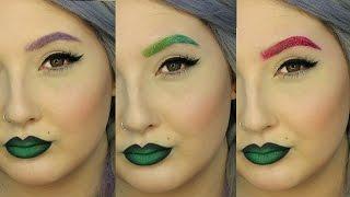 Colored Brows Makeup Ménage à Trois Tutorial | Jordan Hanz