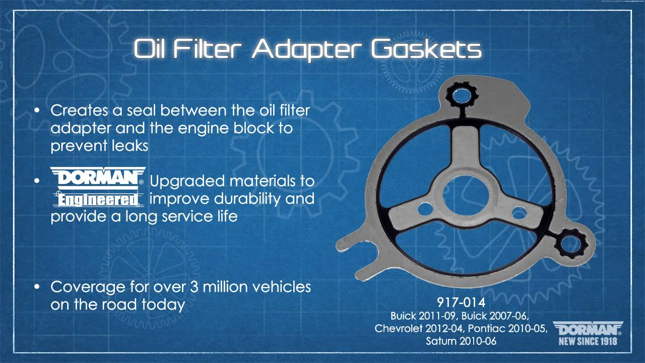engine oil filter adapter gasket - youtube
