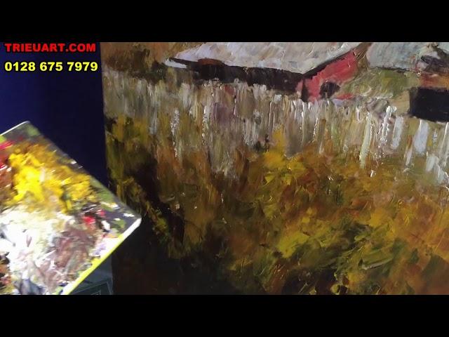Vẽ tranh sơn dầu đắp bay nghệ thuật TrieuArt.Com