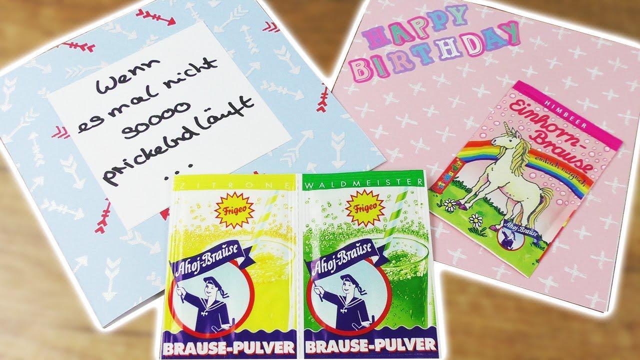 Einhorn Geburtstags Karte Diy 2 Ahoj Brause Diy Karten Wenn