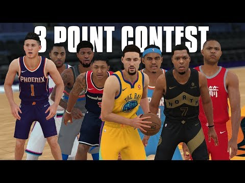2018 NBA Three Point Contest In NBA 2K18!