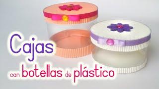 Manualidades: CAJAS con BOTELLAS de Plástico - Reciclaje - Innova Manualidades thumbnail