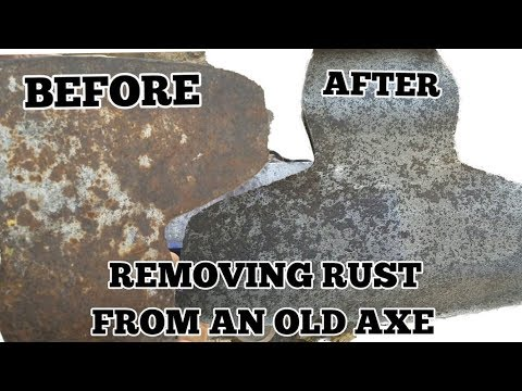 Removing Rust From Tools - Restoring Axe Head