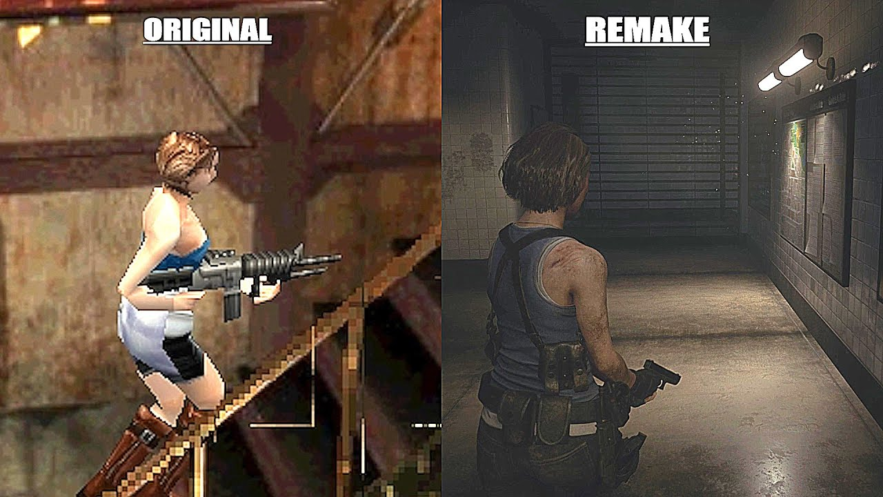 Original Resident Evil 3 Vs Remake Early Graphics Comparison Youtube
