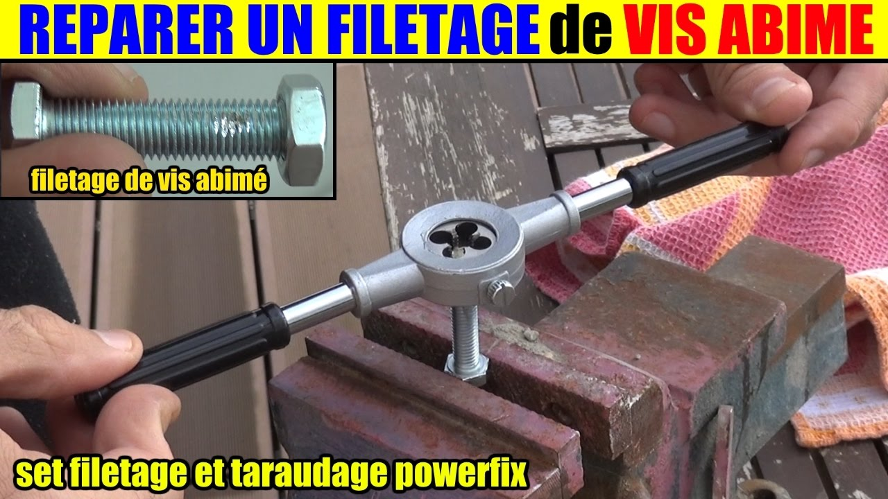 r parer le filetage vis ab m e tige filet e set filetage taraudage lidl powerfix youtube. Black Bedroom Furniture Sets. Home Design Ideas