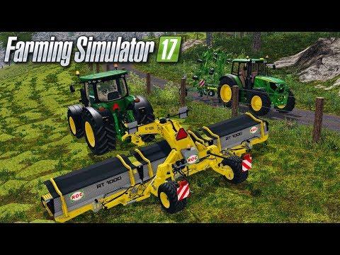 ON CONTINUE LES FOINS !!! 😀 (Gamsting) - Farming simulator 17