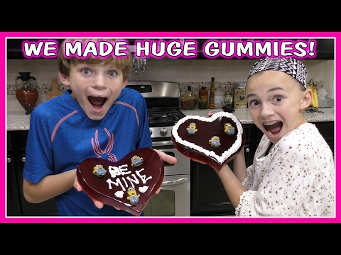 DIY GIANT GUMMY HEARTS FOR VALENTINE'S DAY | We Are The Davises
