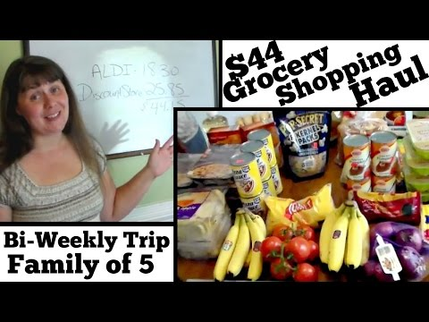 $44 Bi-Weekly Grocery Shopping Haul for 5- Discount Store and Aldi