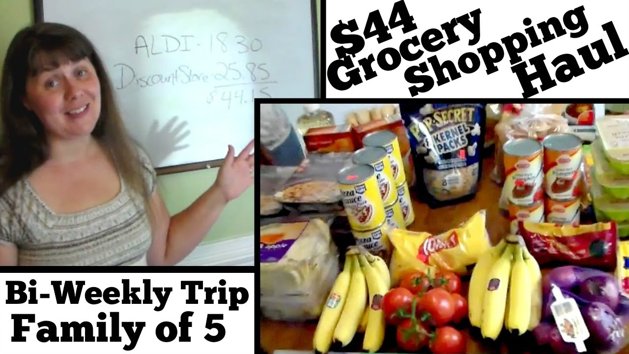The $44 Menu Plan- Feeding a Family of 5 for Two Weeks | The