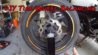 DIY AT HOME Cheap Easy Way To Balance Your Motorcycle Wheel Tire