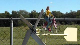 Girl Riding Bike Whirligig