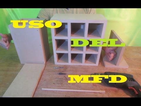 Que Es EL MDF - COMO Se Usa - Uniones MDF - Curso Completo Paso  A Paso Luis Lovon