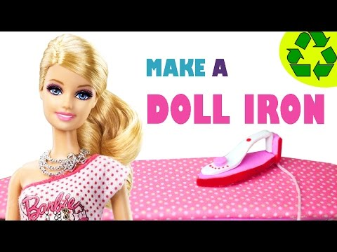How To Make A Modern Doll Iron - Easy Doll Crafts - Simplekidscrafts